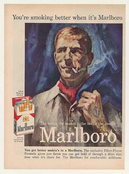 Marlboro Cigarette Man Anchor Tattoo (1959)