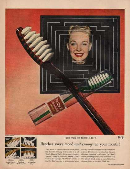 Dr West Toothbrush Fits (1949)