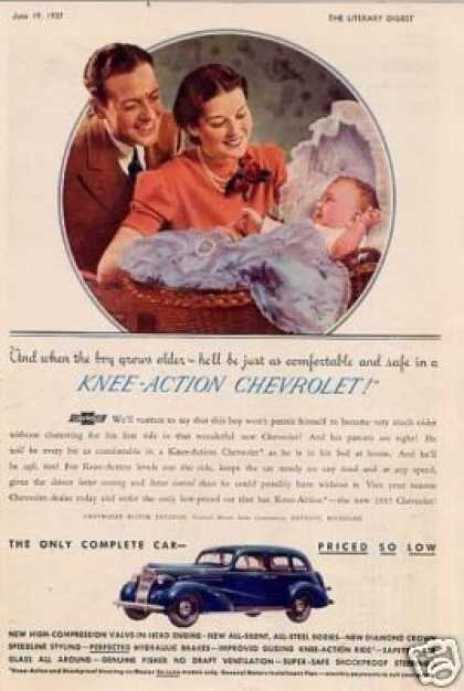 "Chevrolet Car Color Ad ""Knee-action... (1937)"