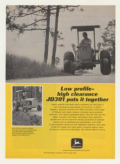 John Deere JD301 Turf Tractor Mower Photo (1972)