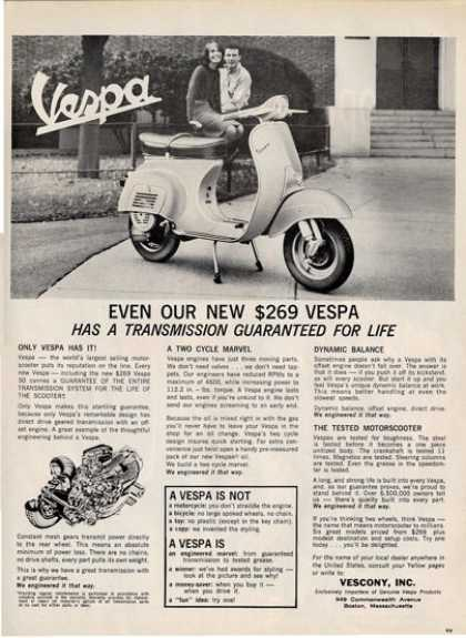 Classic Vescony Vespa Two Cycle T (1964)