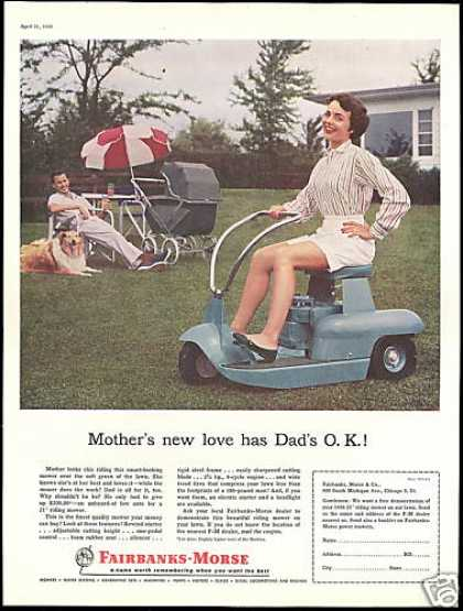 Fairbanks Morse Riding Lawn Mower Mom (1956)