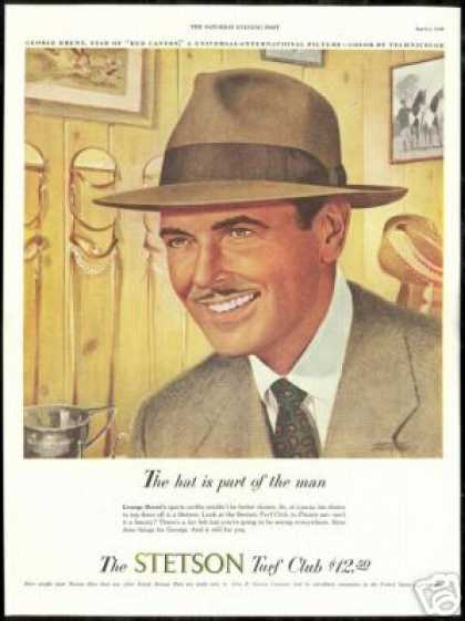 George Brent Stetson Hat Turf Club Art (1949)
