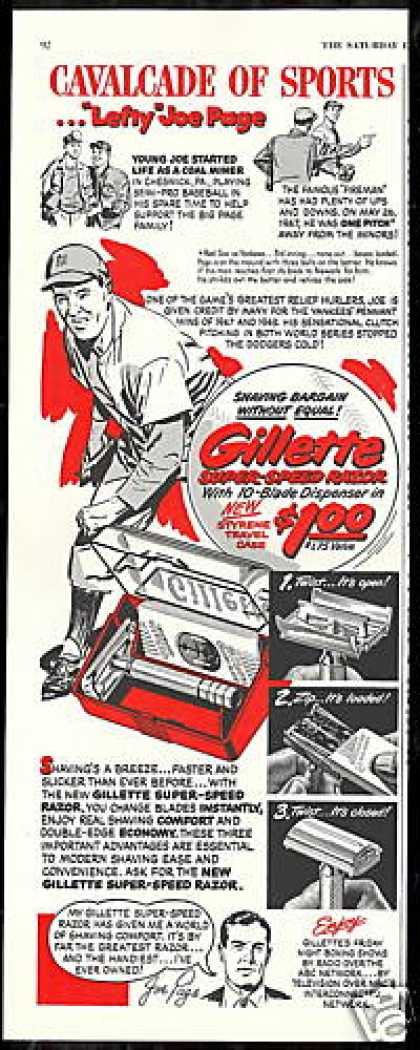 Lefty Joe Page Baseball Gillette Razor (1950)