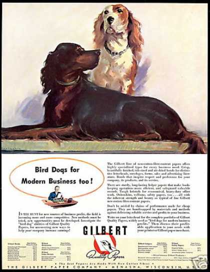 Gilbert Paper Company Hunting Bird Dogs (1940)