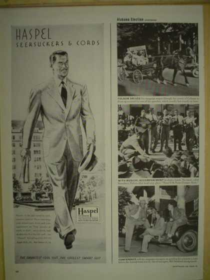 Haspel Searsucker and Cords Mens suits (1946)