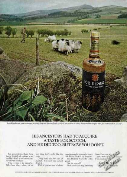 Scotland Sheep Flock 100 Pipers Scotch (1967)