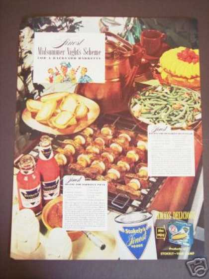 Stokely Food Bbq Sauce Recipe Color (1947)