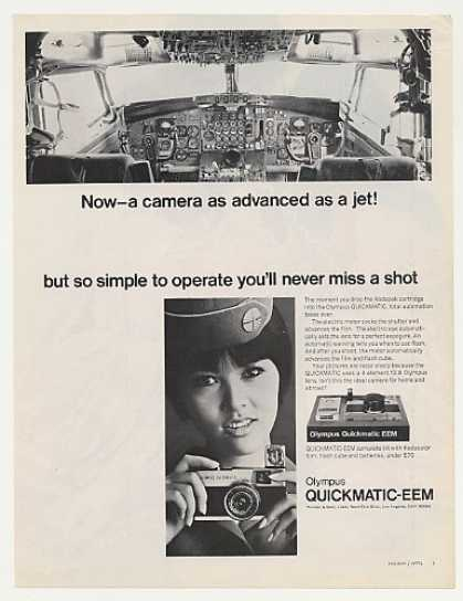 Pan Am Airlines Stewardess Olympus Quickmatic (1968)
