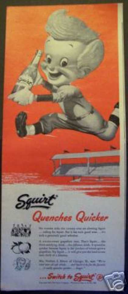 Squirt Soda Baseball Kid Art (1940)