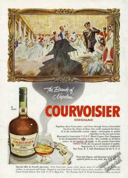 Napoleon Chose Courvoisier Cognac Collectible (1955)