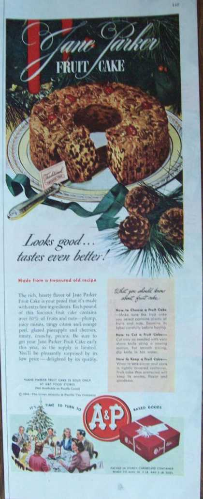 A & P Grocery Store Fruit Cake (1944)