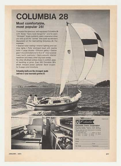 Columbia 28 Yacht Boat Photo (1971)