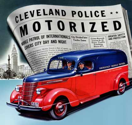 International Harvester D-2 panel body police van (1939)