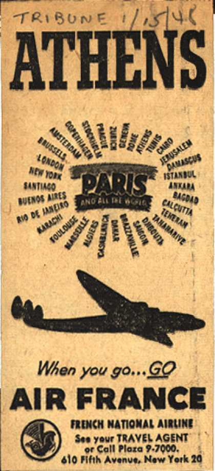 French National Airline's Athens – Athens (1948)