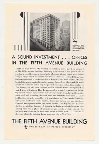 Fifth Avenue Building New York Photo (1930)