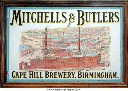 Mitchell's & Butlers factory Sign