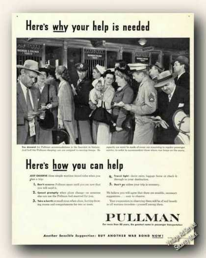 Your Help Is Needed Wwii Wartime Pullman (1944)