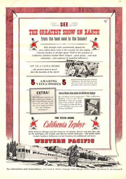 California Zephyr Western Pacific Railroad (1953)