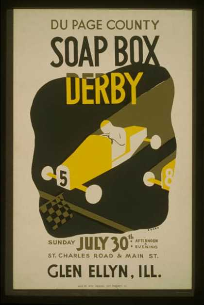 Du Page County soap box derby ... Glen Ellyn, Ill. / Beard. (1939)
