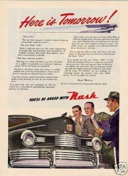 "Nash Car Ad ""Here Is Tomorrow... (1947)"