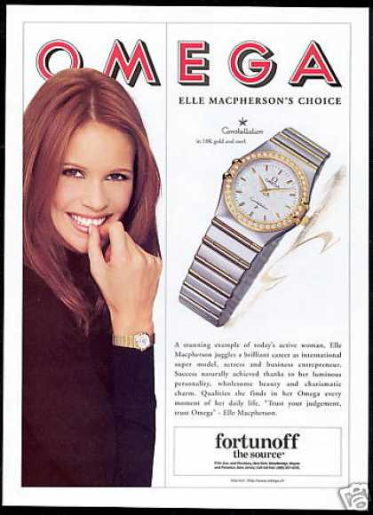 Elle MacPherson Photo Omega Watch Constellation (1996)