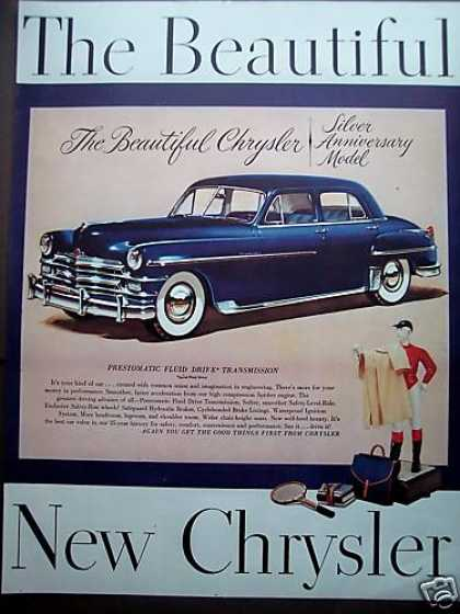 Silver Anniv Beautiful Chrysler Car Prestomatic (1949)