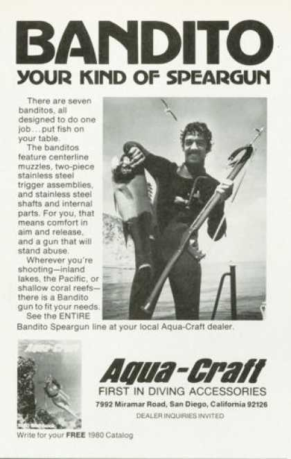 Aqua Craft Bandito Scuba Diver Diving Speargun (1980)