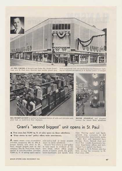 Grant's Store St Paul Opening Photo Trade Article (1955)