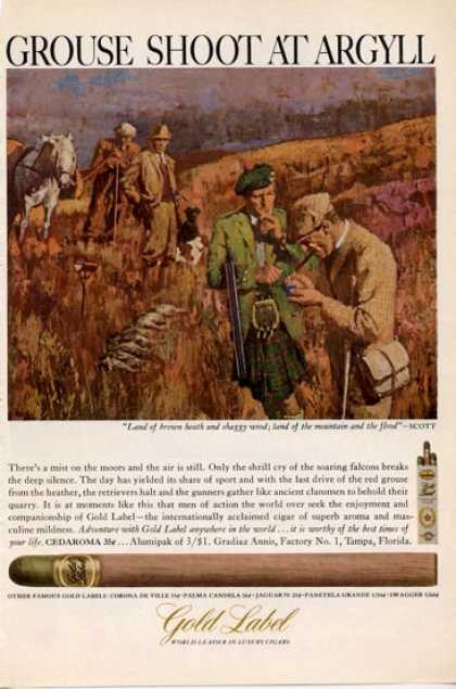 Gold Label Grouse Shoot at Argyll (1965)