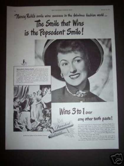 Original Nancy Ruhl Fashion Pepsodent (1948)