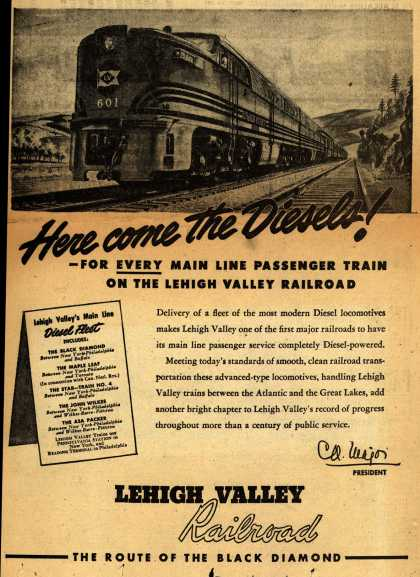Lehigh Valley Railroad's Diesel Engine – Here come the Diesels (1946)