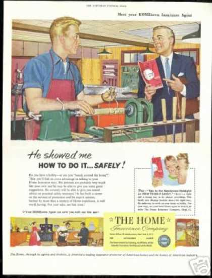 Wood Lathe Art Home Insurance Company (1954)