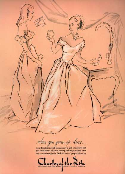 Charles of the Ritz's Hand-Blended Powder – When you grow up, dear... (1946)