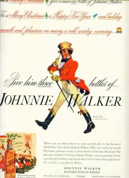 Johnnie Walker Blended Scotch Whisky C (1940)