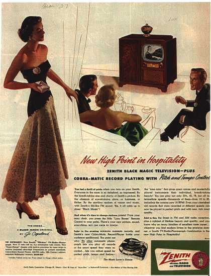 Zenith Radio Corporation's Radio Phonograph Television – New High Point in Hospitality (1951)