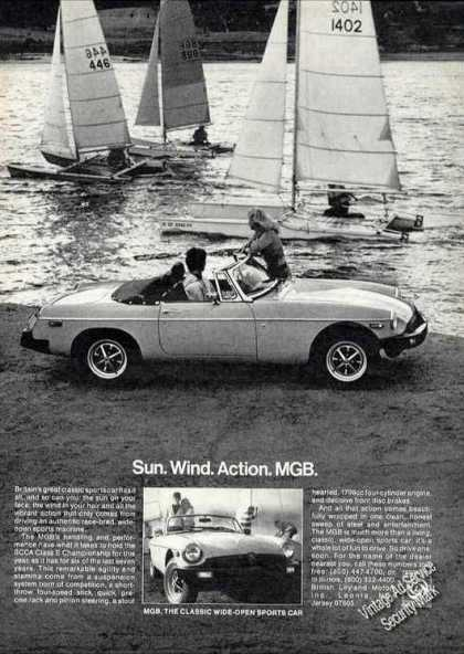 Mgb With Pontoon Sailboats Photo Car (1978)