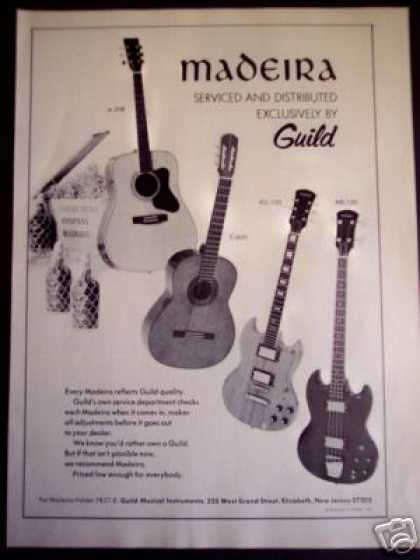 Madeira Guitars By Guild Photo (1974)