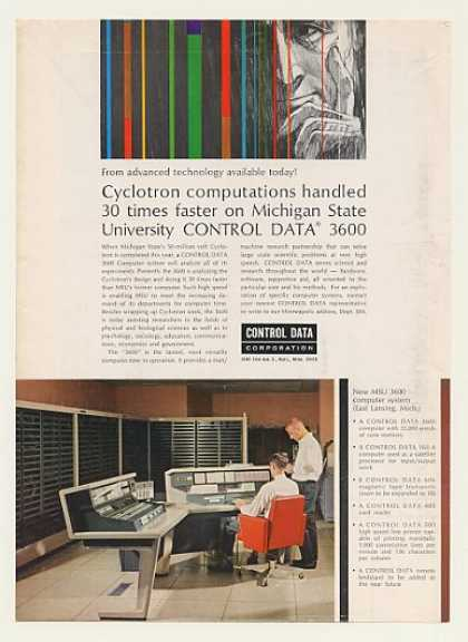 Michigan State Univ Control Data 3600 Computer (1964)