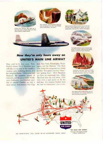 United Air Lines – DC-6 Mainliner 300s – Sold (1949)