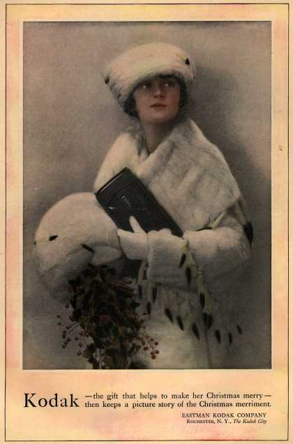 Kodak – Kodak – the gift that helps to make her Christmas merry... (1919)