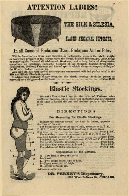 Dr. Perkey's Dispensary's Silesia Elastic supporter – Attention Ladies! Rupture Cured