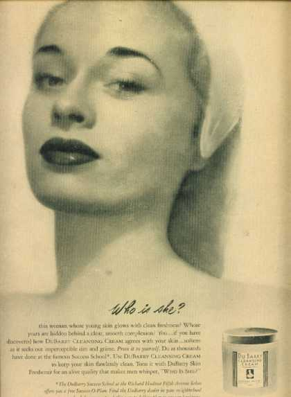 Du Barry Cleansing Cream By Richard Hudnut (1947)
