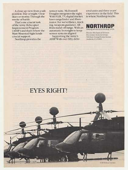 Northrop Army AHIP Helicopter Mast Sight Photo (1987)