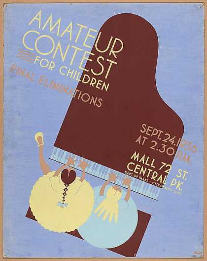 Amateur contest for children – Final eliminations, Sept. 24, 1936. (1936)