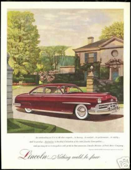 Burgundy Lincoln Cosmopolitan Car Estate Home (1950)