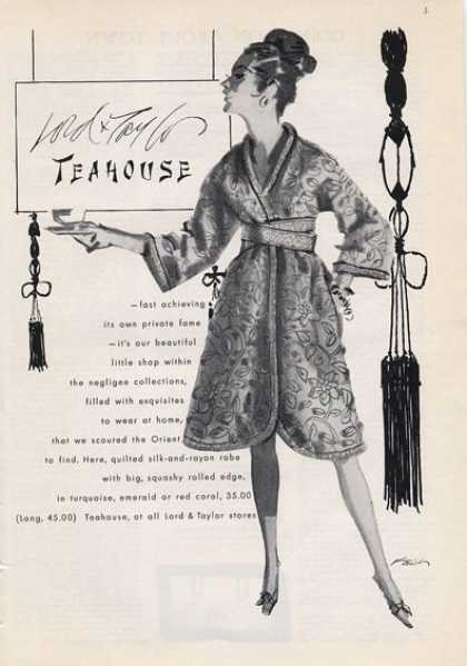 Lord & Taylor Oriental Teahouse Robe (1965)