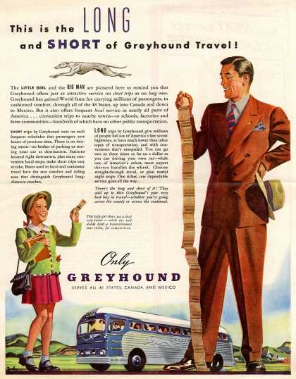 Greyhound – This is the Long and Short of Greyhound Travel (1947)