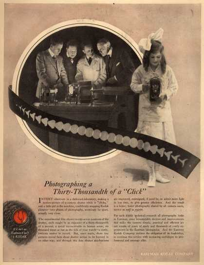 "Kodak – Photographing a Thirty-Thousandth of a ""Click"" (1919)"