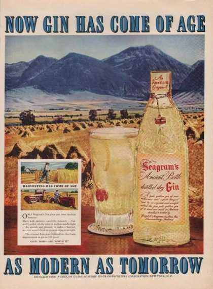 Seagrams Gin Has Come of Age (1951)